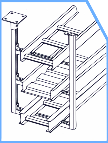 ladder trays with supporting system image